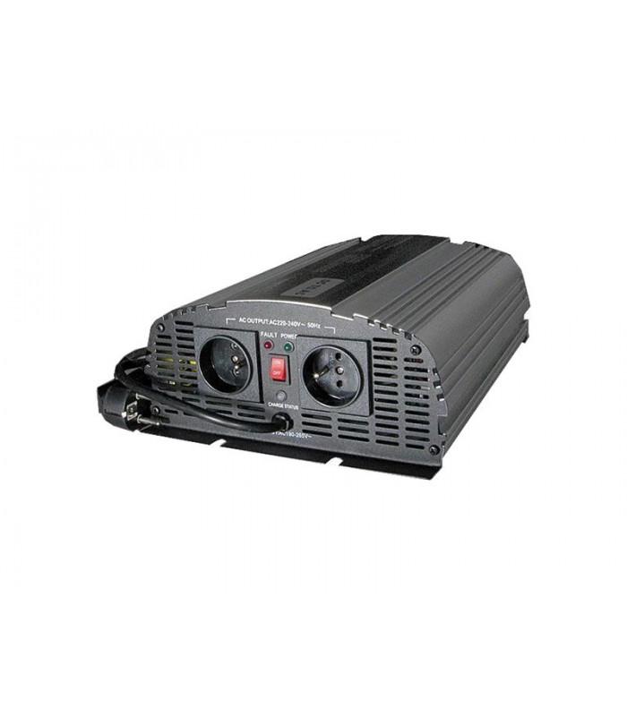 Menič napätia CARSPA CPS1000 12V/230V 1000W čistá sínusoida+ UPS+ nabíjačka