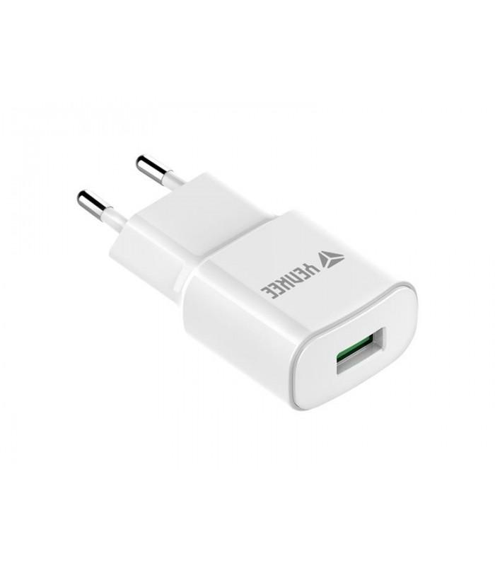 Nabíjačka YENKEE YAC 2023WH USB QC3.0