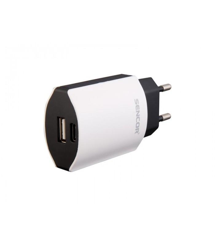 Nabíjačka Sencor SCH 650 AC USB A + C / 2,1 A