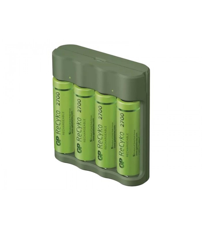 Nabíjačka baterií GP Everyday B421 + 4xAA ReCyko 2700 + USB
