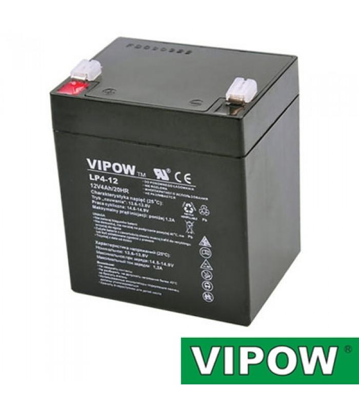 Batéria olovená 12V 4Ah VIPOW bezúdržbový akumulátor