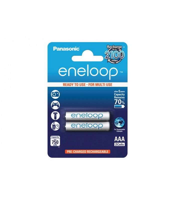 Batérie 4MCCE/2BE ENELOOP AAA 2x 2100 PANASONIC nabíjacie