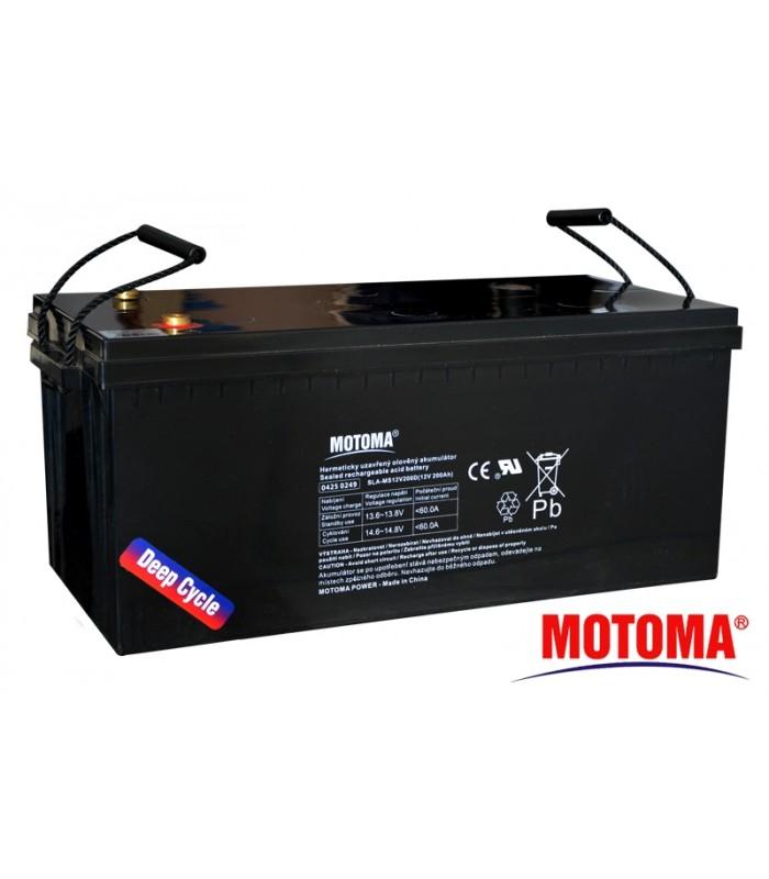 Batéria olovená 12V/200Ah - Trakčná MOTOMA (solárna)