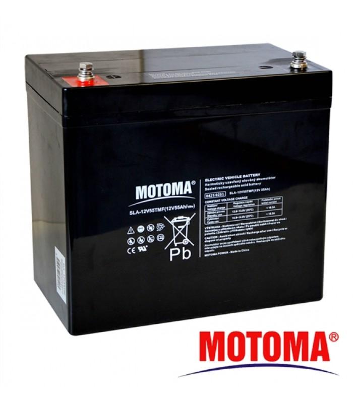 Batéria olovená 12V / 55 Ah - Trakčná MOTOMA (elektromotory)