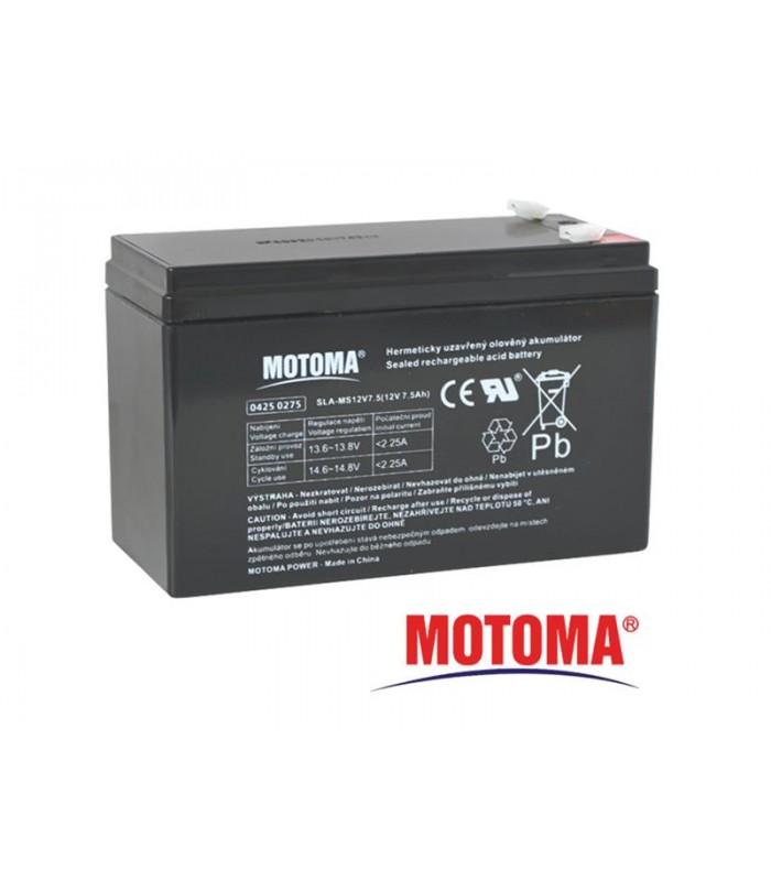 Batéria olovená 12V/ 7.5Ah MOTOMA (konektor 4,75 mm)