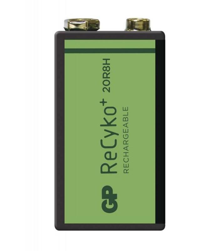 Batéria 6F22 (9V) nabíjacia GP Recyko+ 200mAh