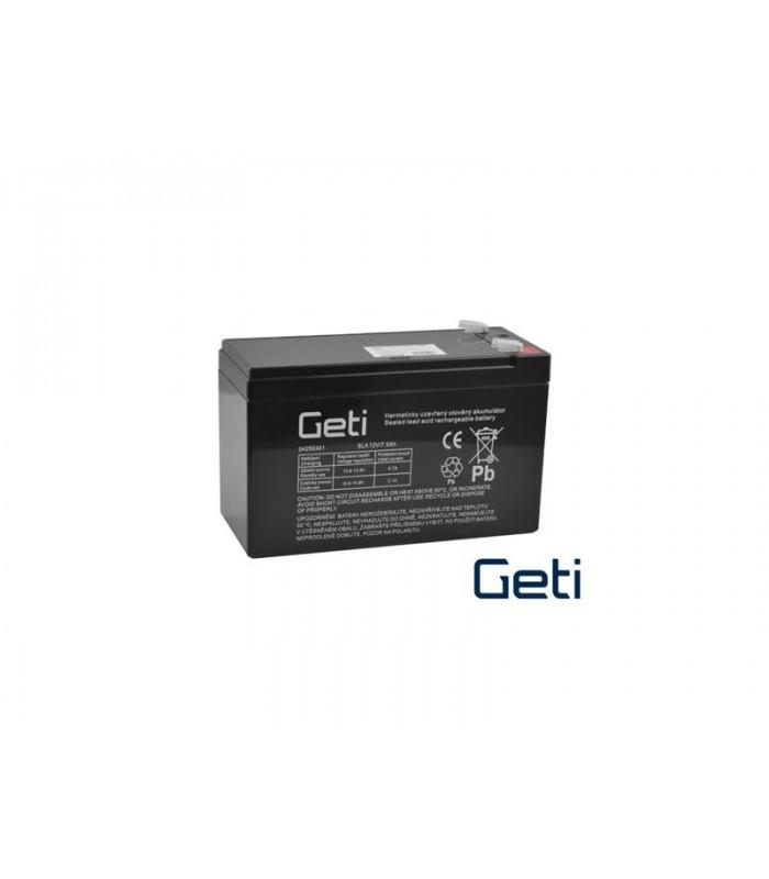 Batéria olovená 12V 7.0Ah GETI (konektor 6,35 mm)