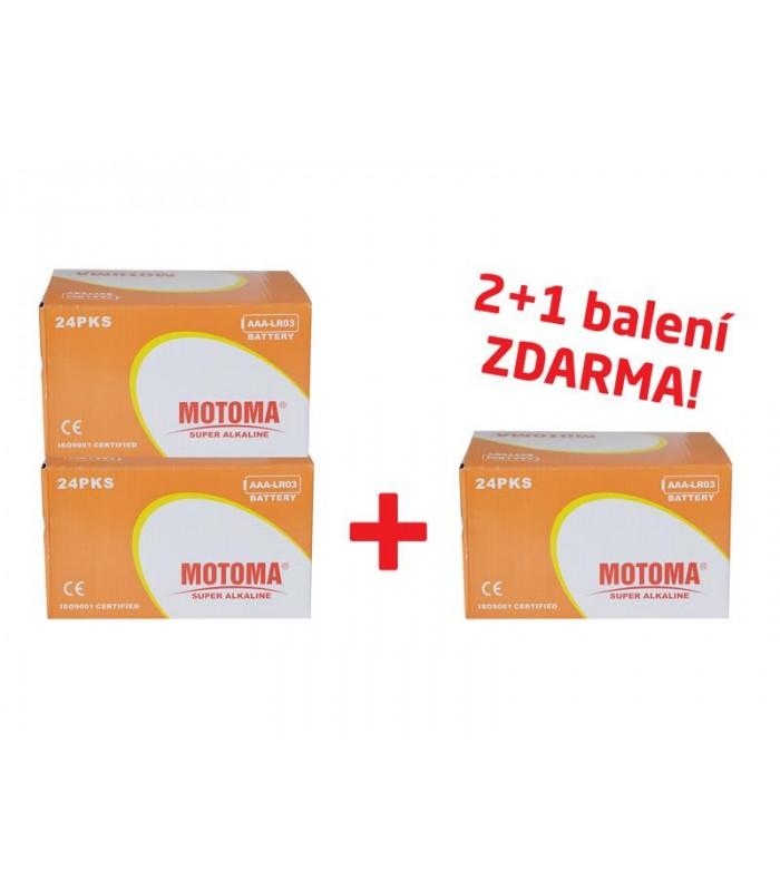 Balíček 2+1 Batéria alkalická AAA (R03) MOTOMA Ultra alkaline (3 krabice 04270213)