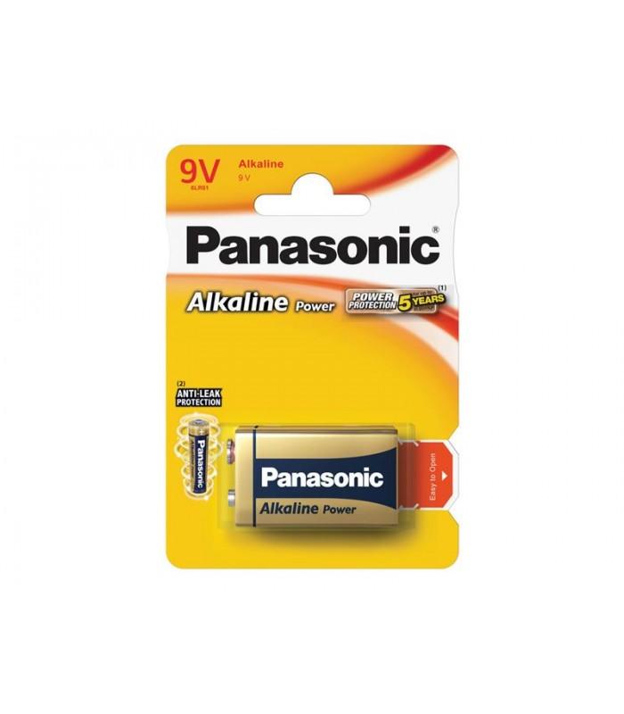 Batéria 6F22 (9V) alkalická PANASONIC Power alk 6LR61 1BP