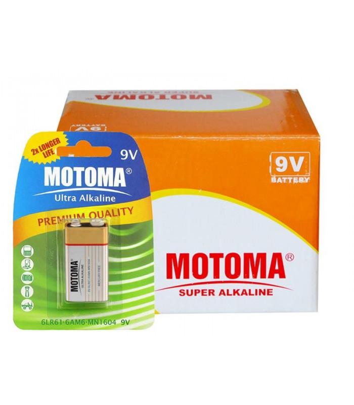 Balíček 12 ks 6F22 (9V) MOTOMA Ultra Alkaline