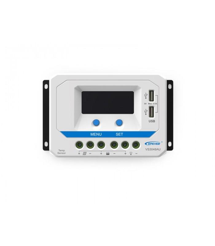 Solárny regulátor PWM 10A 12V / 24V s displejom