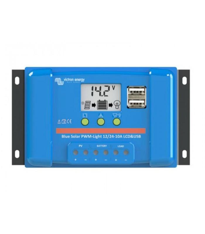 Solárny regulátor PWM BlueSolar 20A LCD and USB 12V / 24V