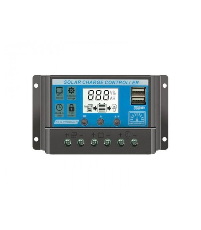Solárny regulátor PWM KLX1220 12V/20A+USB