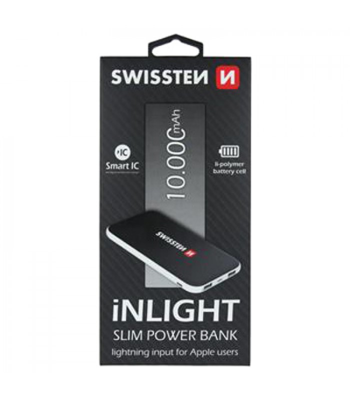 PowerBank SWISSTEN iNLIGHT SLIM 10000 mAh