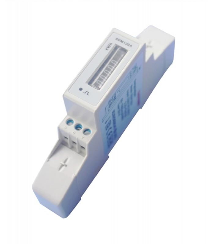 Elektromer 1F na DIN lištu jednofázový 120A, mechanický