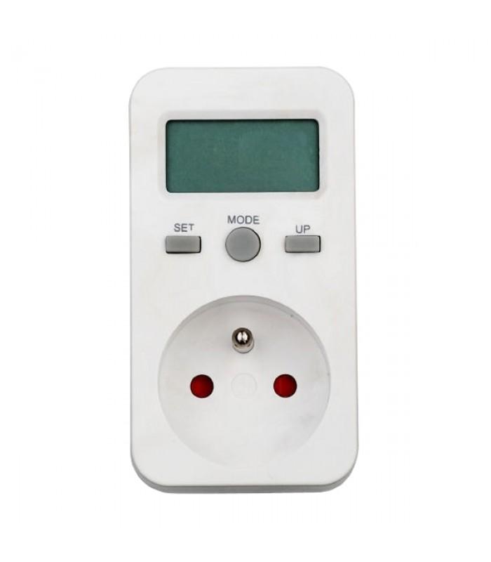 Elektromer zásuvkový merač spotreby s pamäťou PM5 - digitálny wattmeter do zásuvky zálohovanie