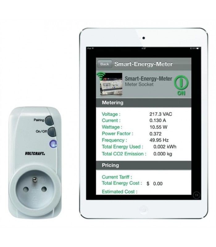 Merač spotreby a spínacia zásuvka pre iOS a Android Voltcraft SEM-3600BT