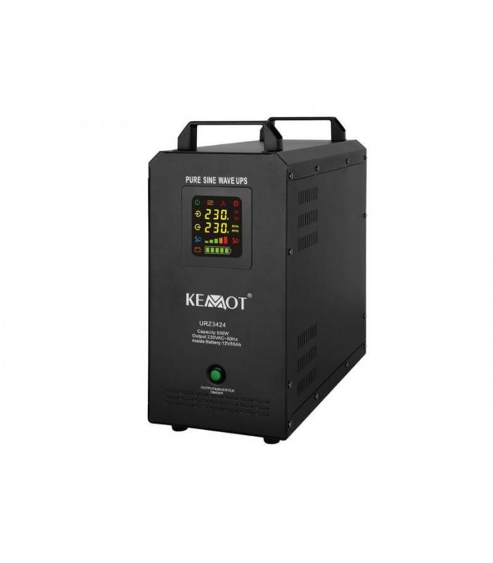 Zdroj záložný KEMOT PROsinus 500W 12V vstavaná batéria